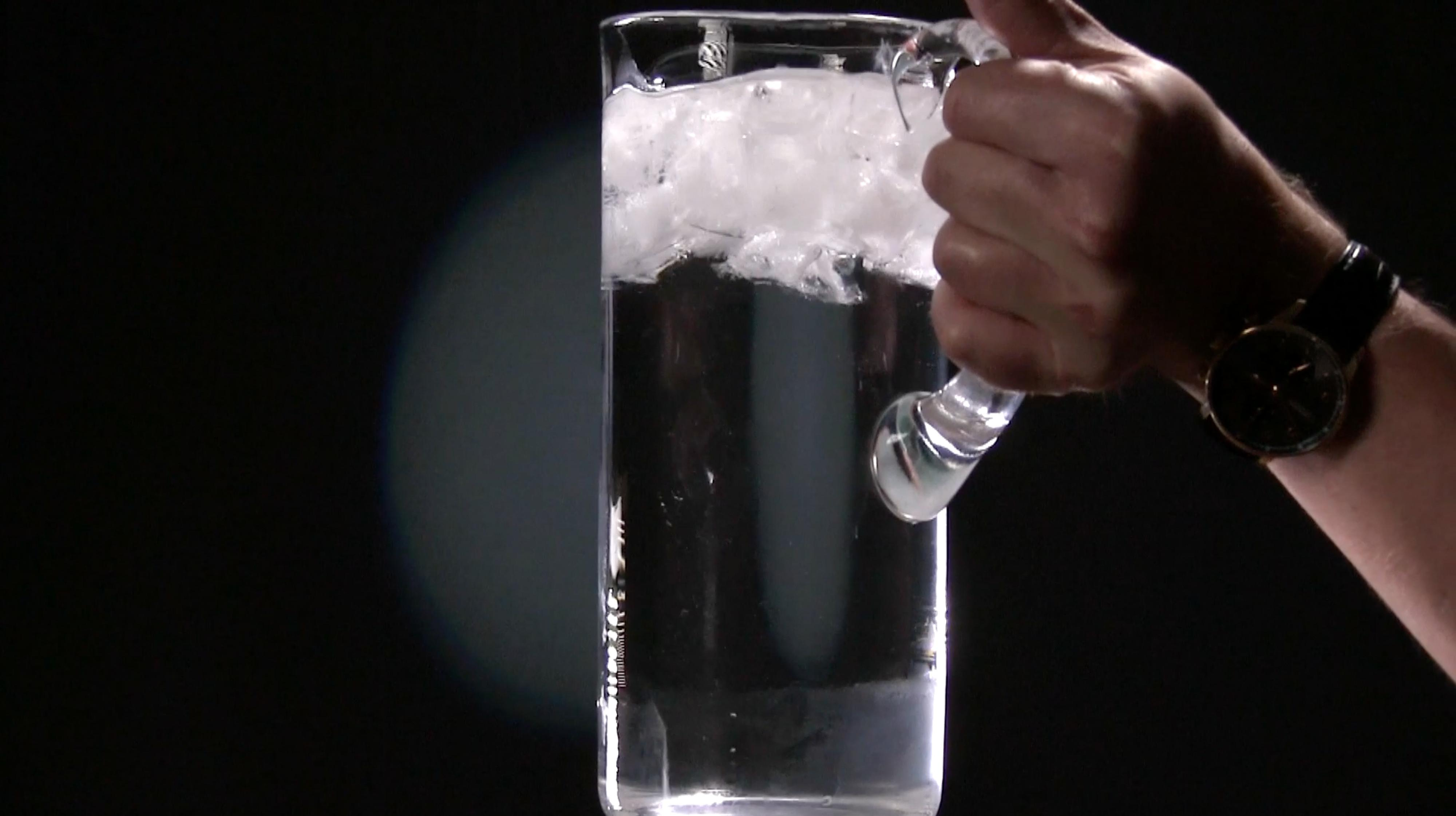 how to turn water into ice in seconds magic trick